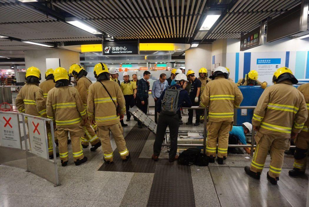 Admiralty escalator smoke