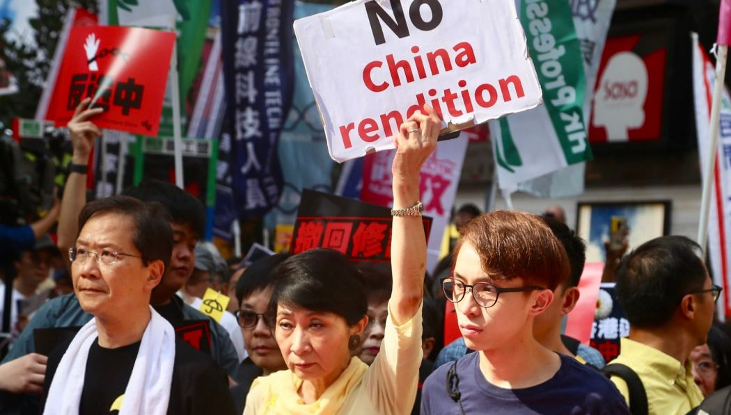extradition china protest rally hong kong