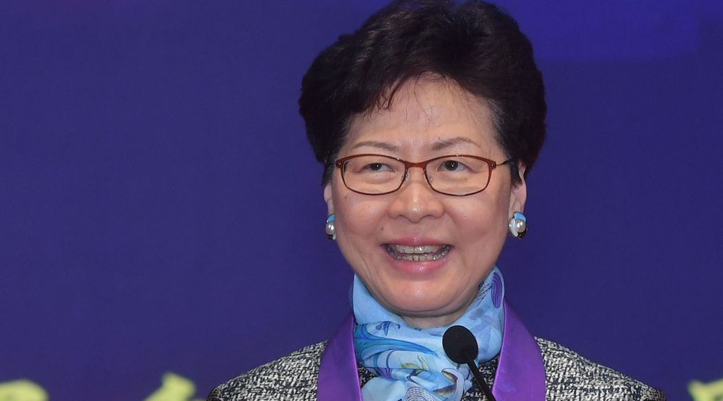 Hong Kong chief Carrie Lam voi...
