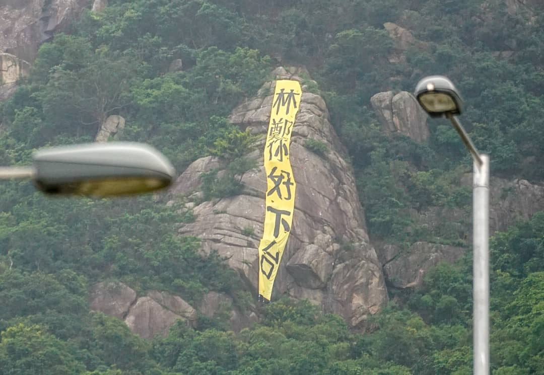 Carrie lam resign banner