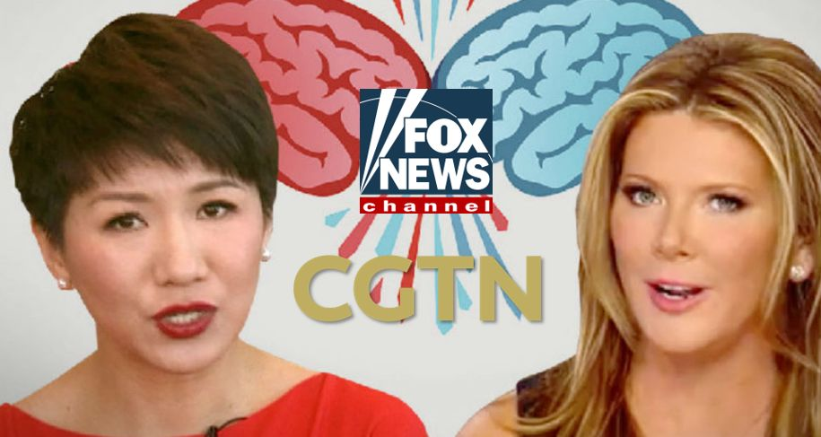 Trish Regan and Liu Xin