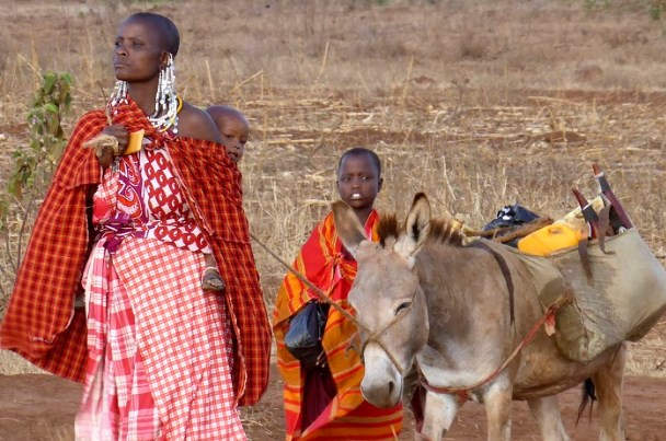 Maasai women in northern Tanzania