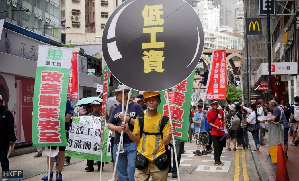Labour day protest march rally