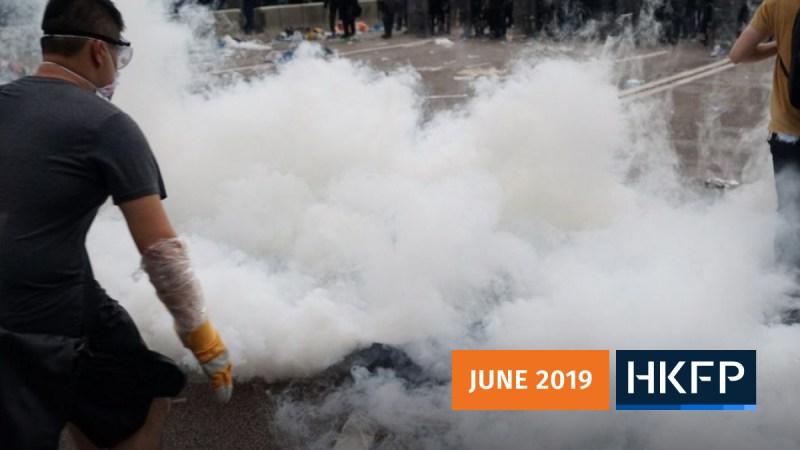 June 12, 2019 police, protester standoff
