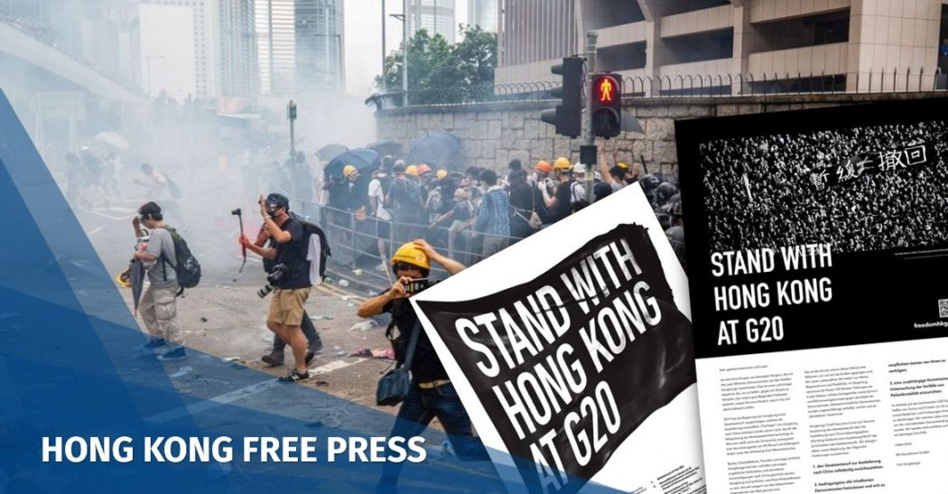 Hong Kong g20 stand with freedom