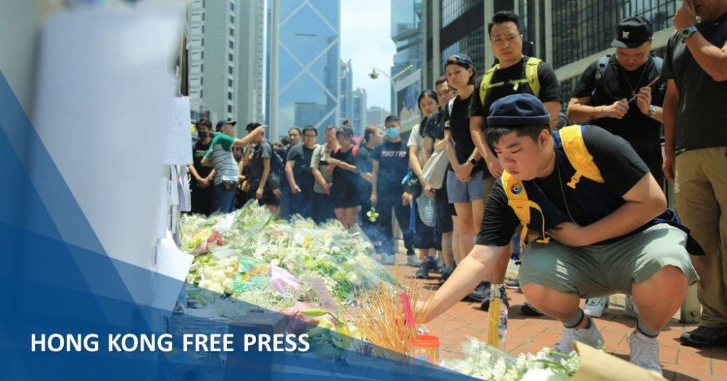 flowers protester man fall extradition