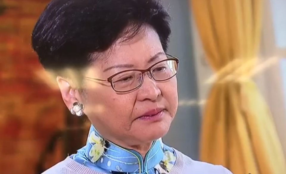 Carrie Lam cry