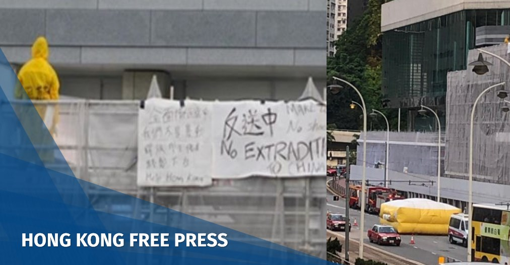 Man protesting Hong Kong's extradition law dies after falling from