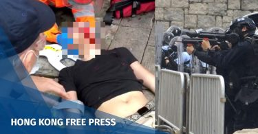 china extradition coughing blood protester
