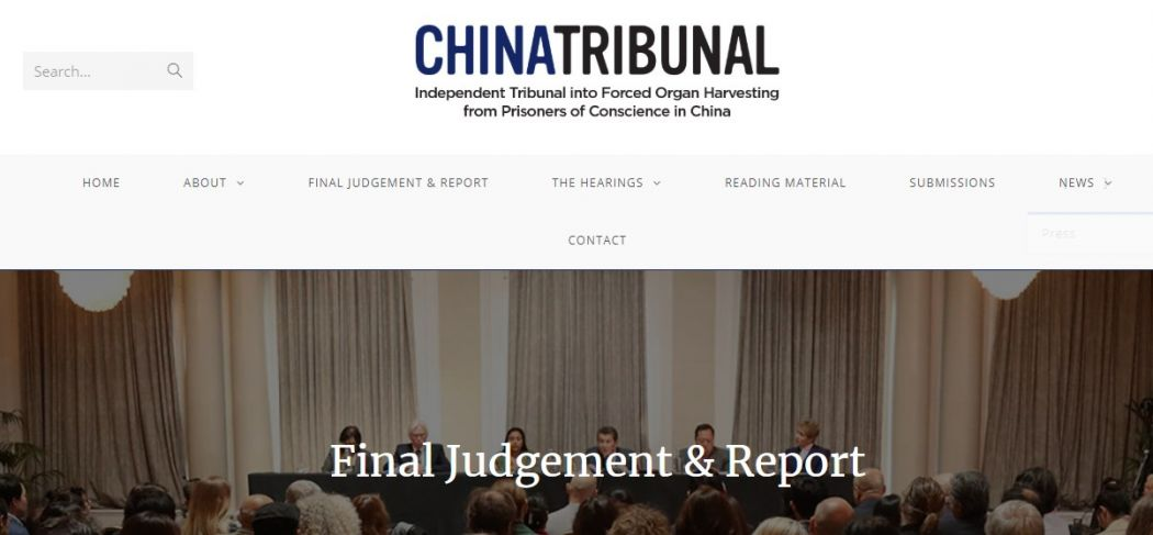 China Tribunal website.