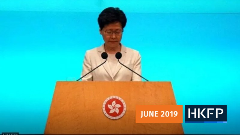 carrie lam apology