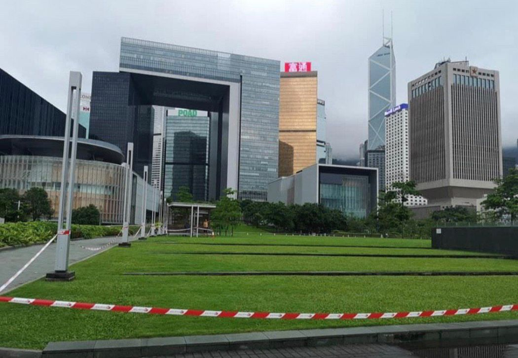 Tamar Park lawn