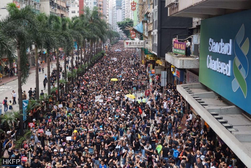 hong kong protest - 1 день