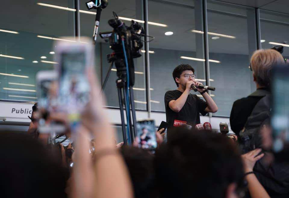 Joshua wong release prison