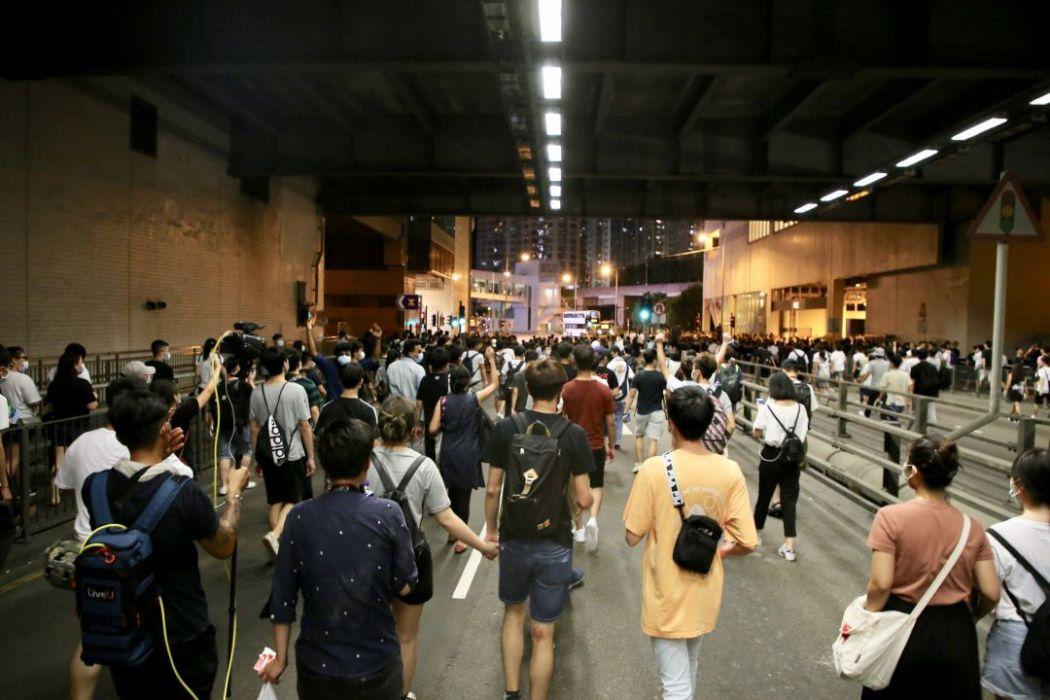 Tuen Mun street protest