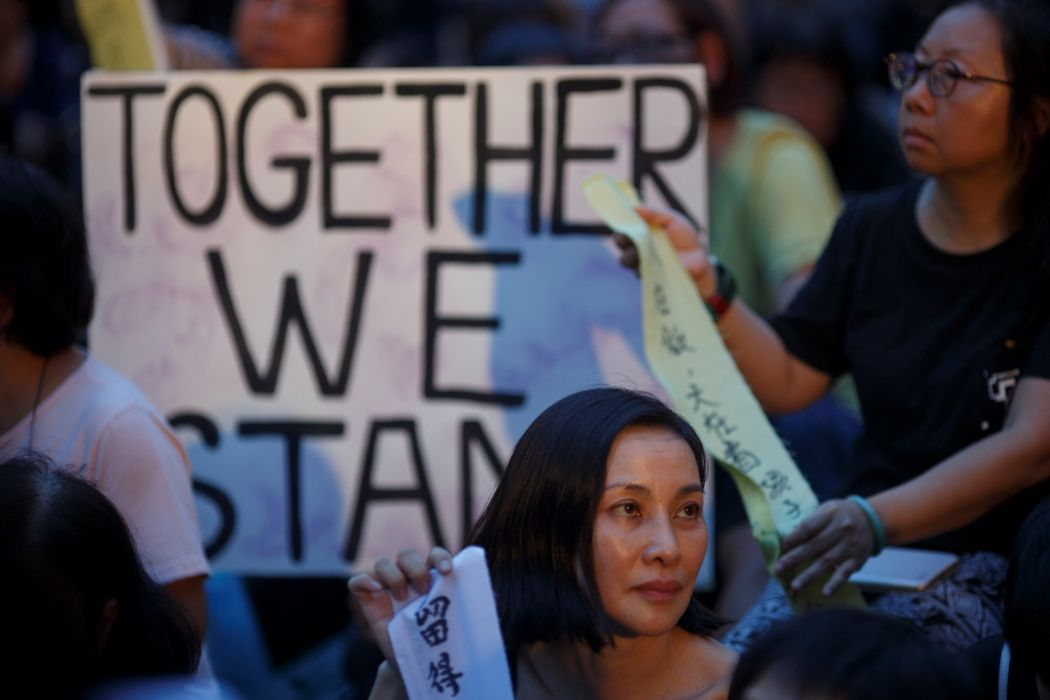 Hong Kong mothers rally