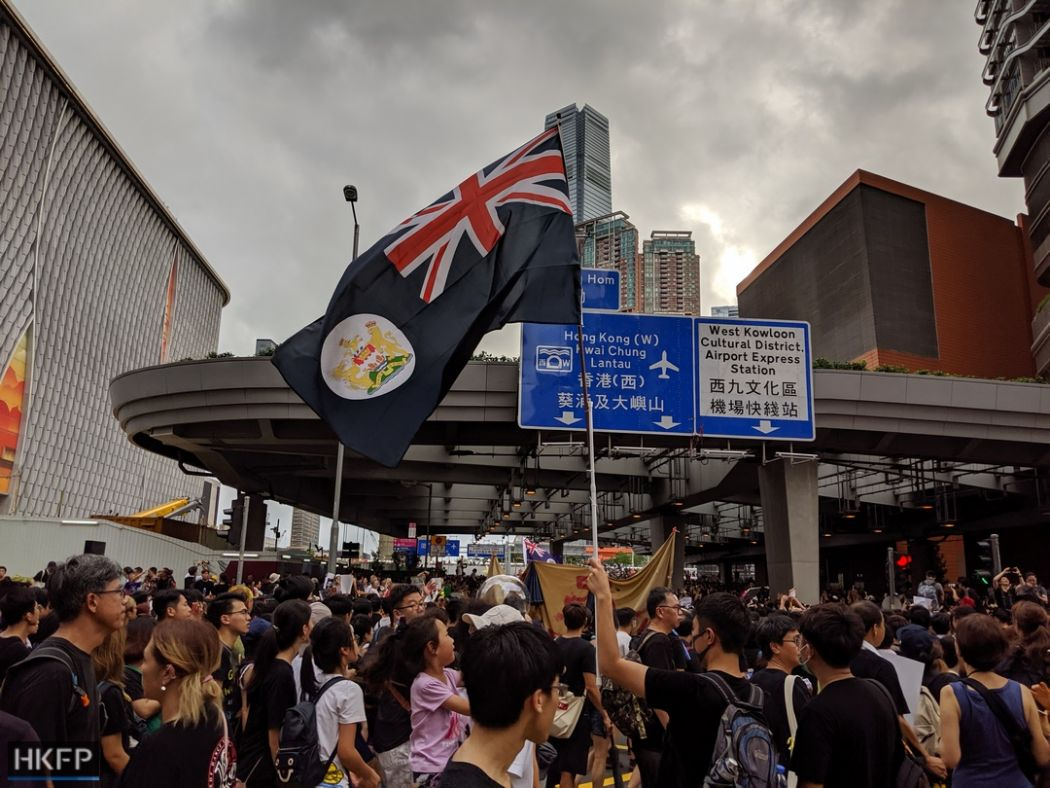 colonial flag protest kowloon