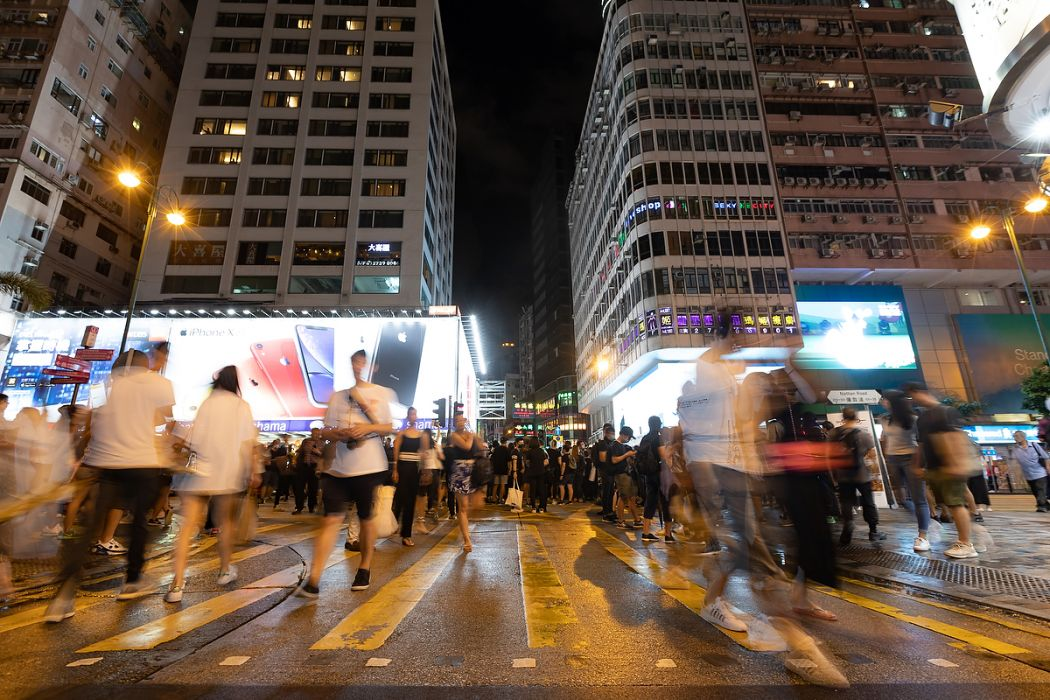 Street view July 14 Sunday anti-extradition protest Mong Kok Tsim Sha Tsui Nathan Road