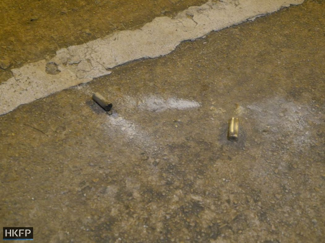 suspected tear gas shell