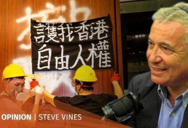 Steve Vines LegCo Storming