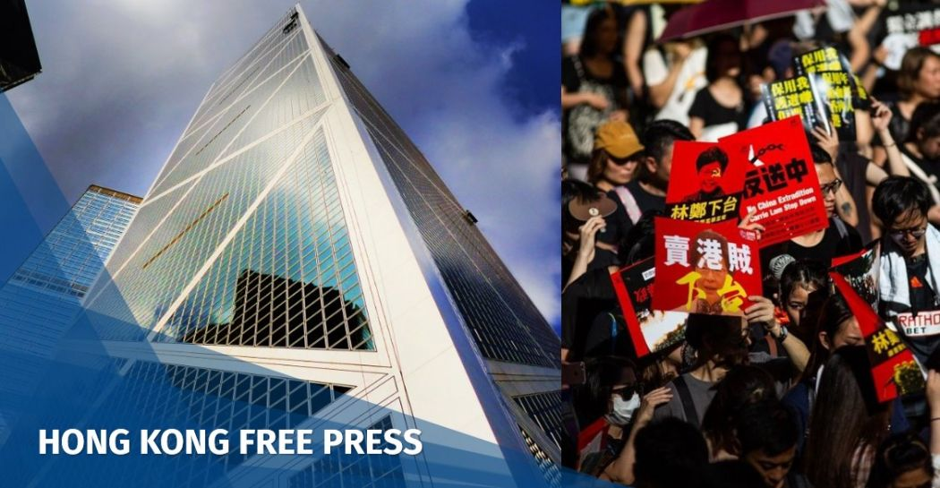 Bank of China extradition protest
