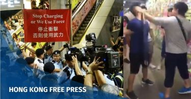 lennon wall confrontation fight yau tong kowloon bay