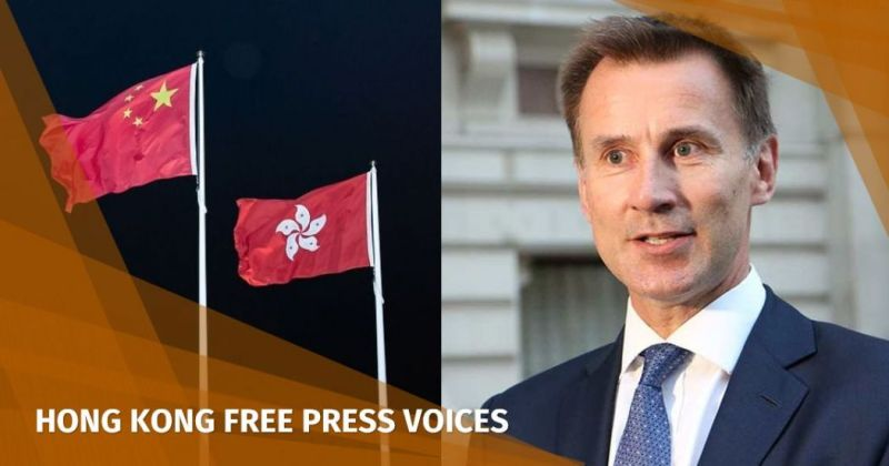 jeremy hunt china hong kong