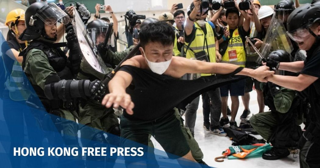 Hong Kong anti-extradition law demo turns ugly, as riot police deploy pepper spray inside mall to clear protesters   Hong Kong Free Press HKFP