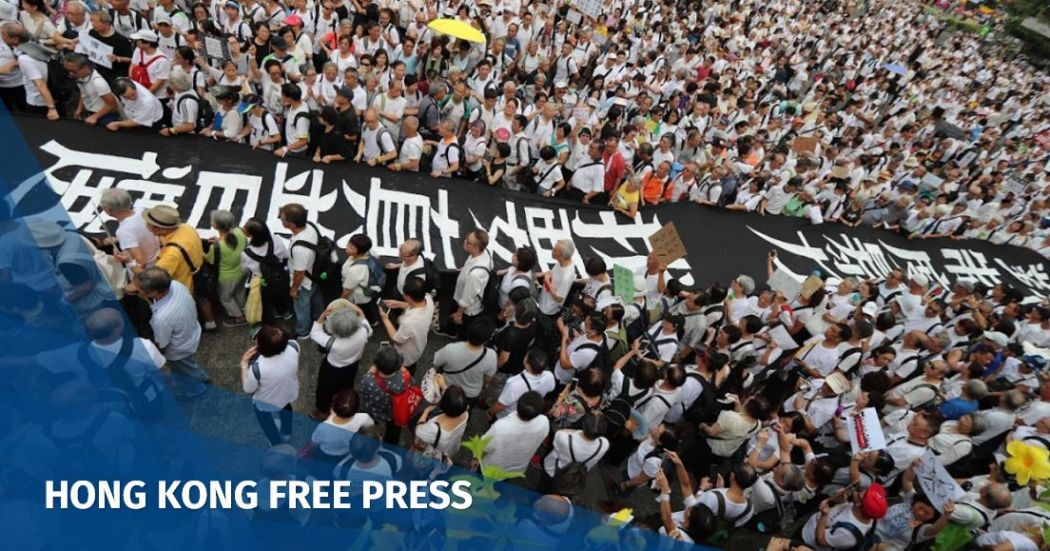 'No rioters, only a tyrannical regime': Thousands of Hong Kong seniors march in support of young extradition law protesters | Hong Kong Free Press HKFP