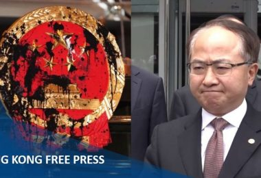 wang zhimin emblem china liaison office