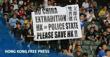hong kong football kitchee protest