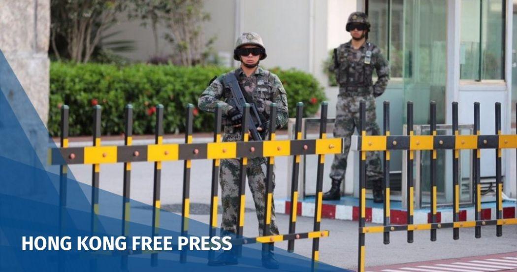 Chinese army Hong Kong