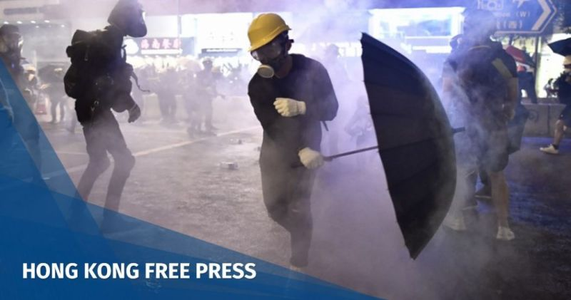 sheung wan tear gas