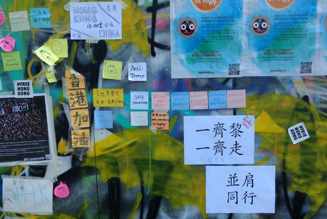 In Pictures: A Hong Kong 'Lennon Wall' appears on a
