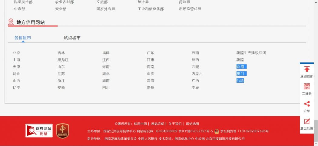 Credit China Hong Kong Macau Taiwan