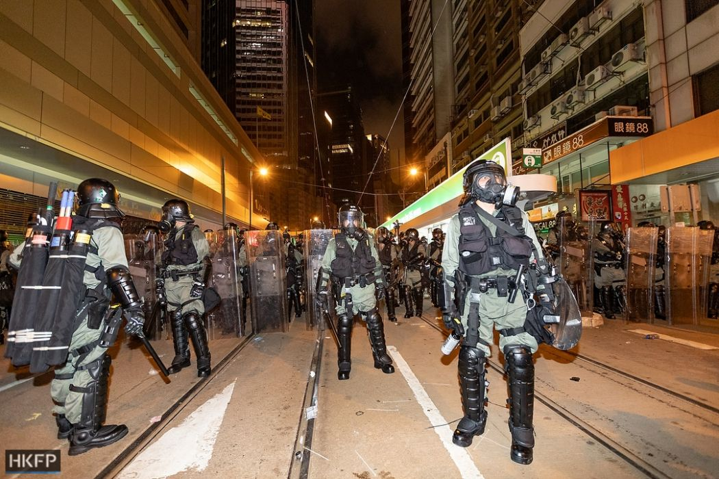 Hong Kong: Fire and tear gas as anti-government protests escalate