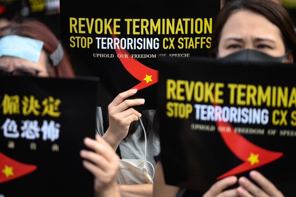 Cathay Pacific protest extradition free speech