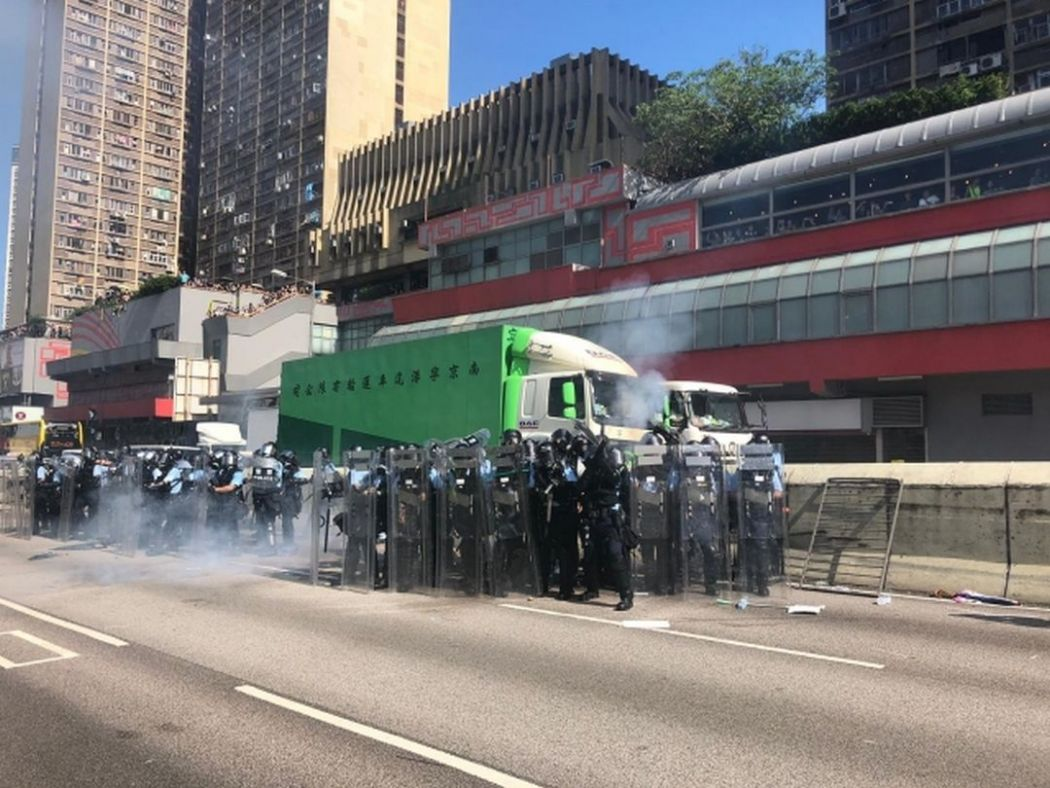 Wong Tai Sin tear gas august 5
