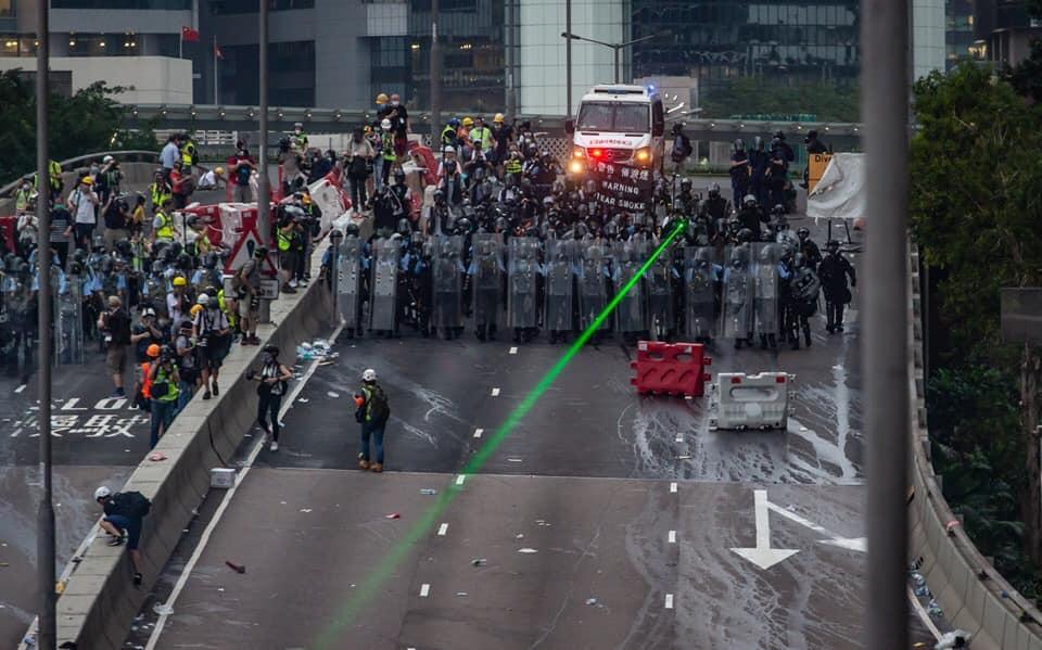 police laser pointer