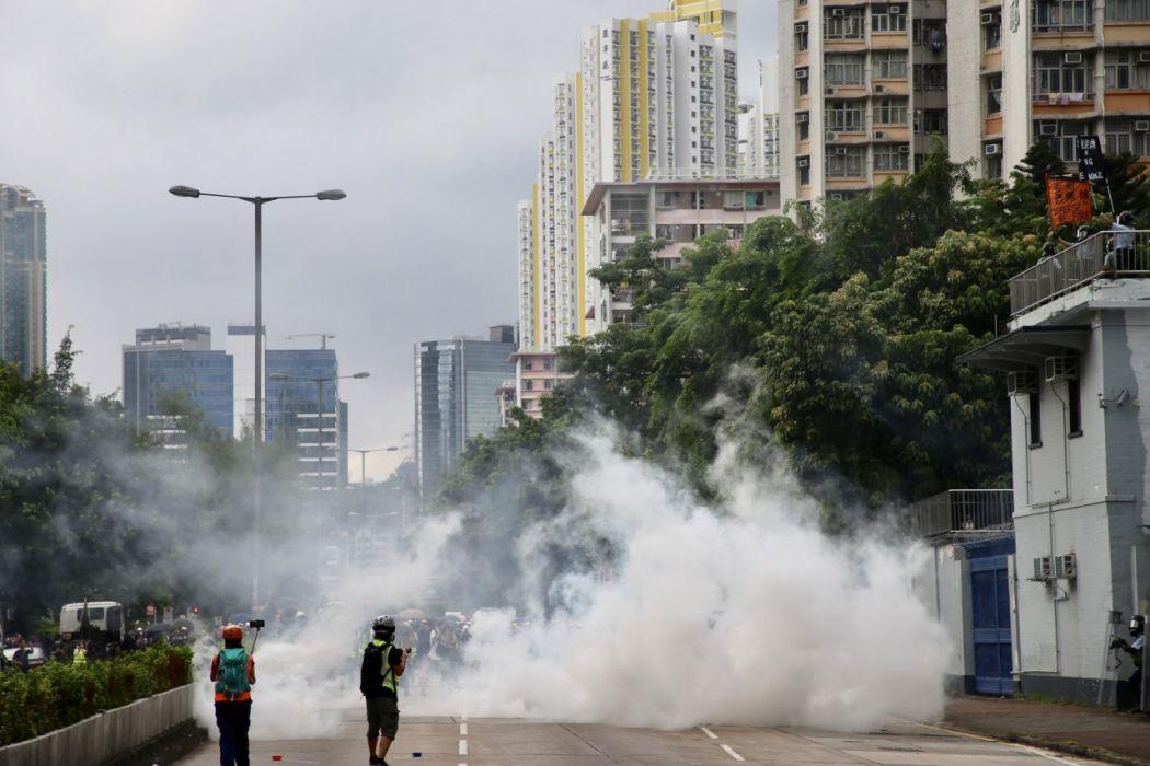 Sham Shui Po August 11 protest tear gas