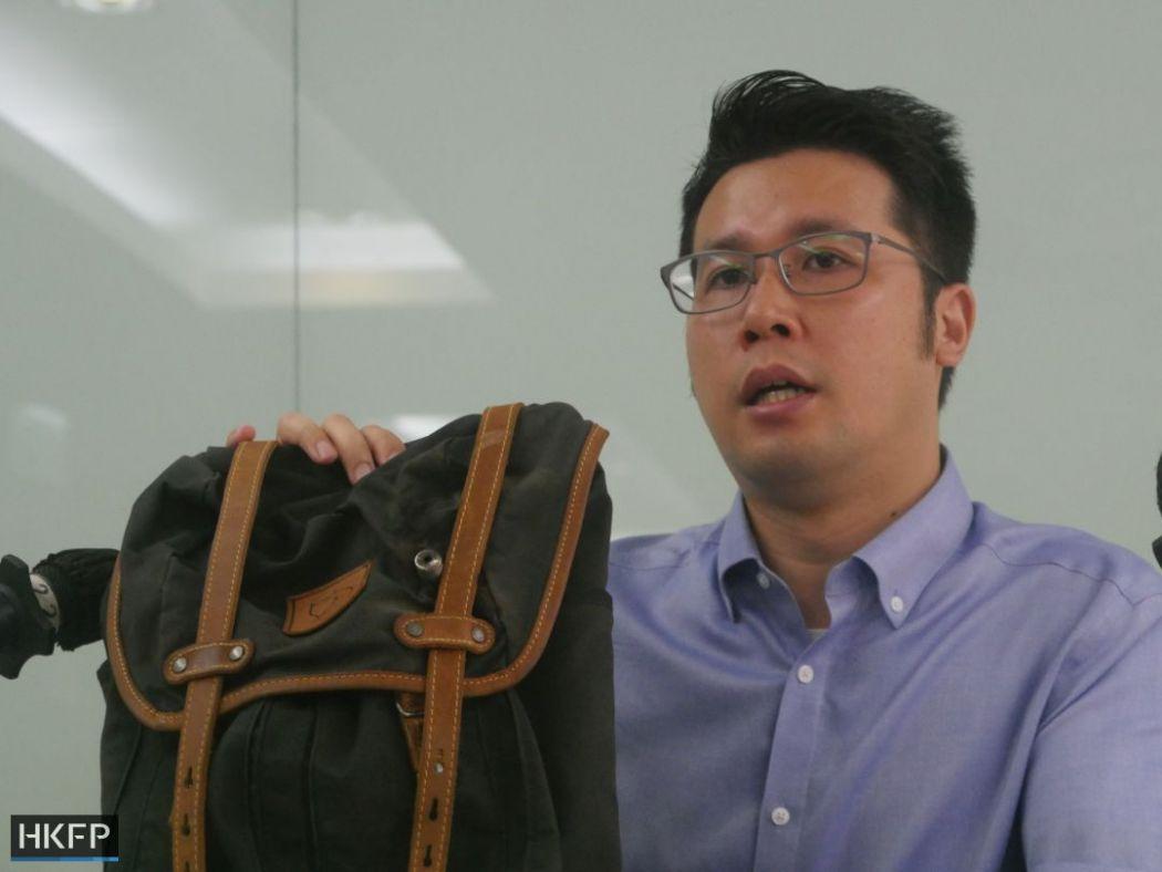 civil rights observer tear gas backpack