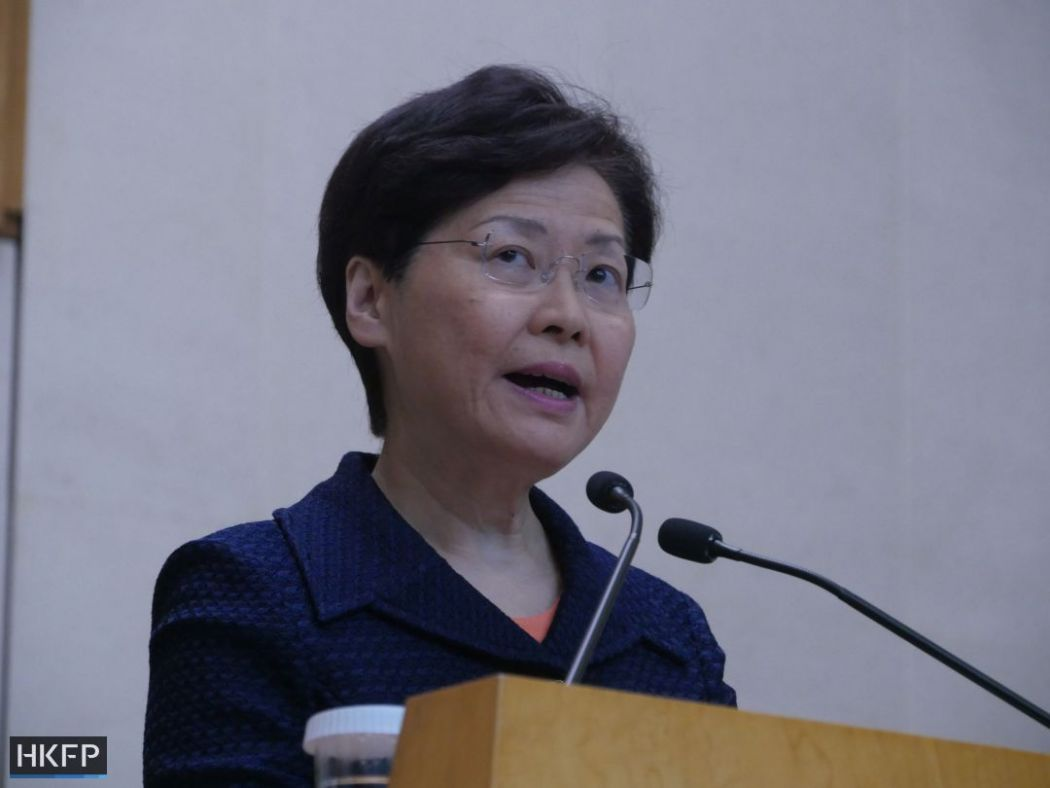 Hong Kong's Lam dismisses leaked voice recording