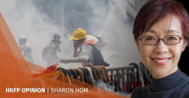 Sharon Hom protest