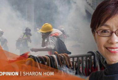Sharon Hom protest
