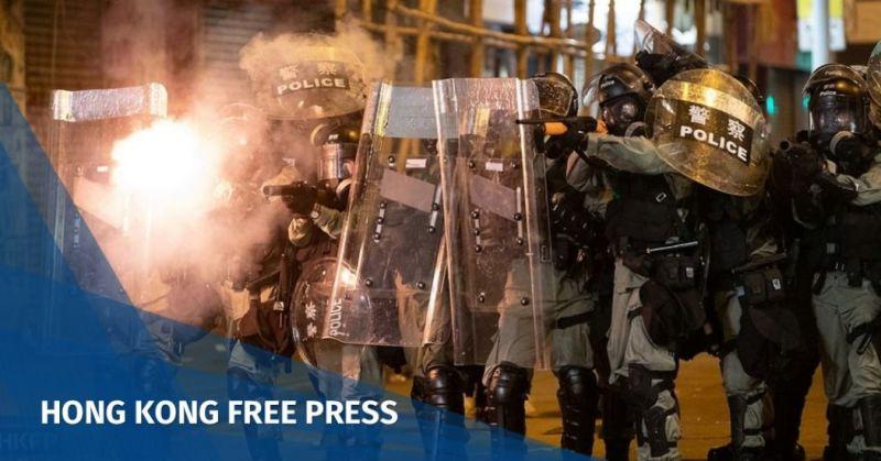police tear gas