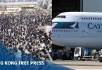 cathay pilot airport protest