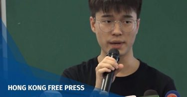 Davin Wong, acting president of the Hong Kong University Students' Union.