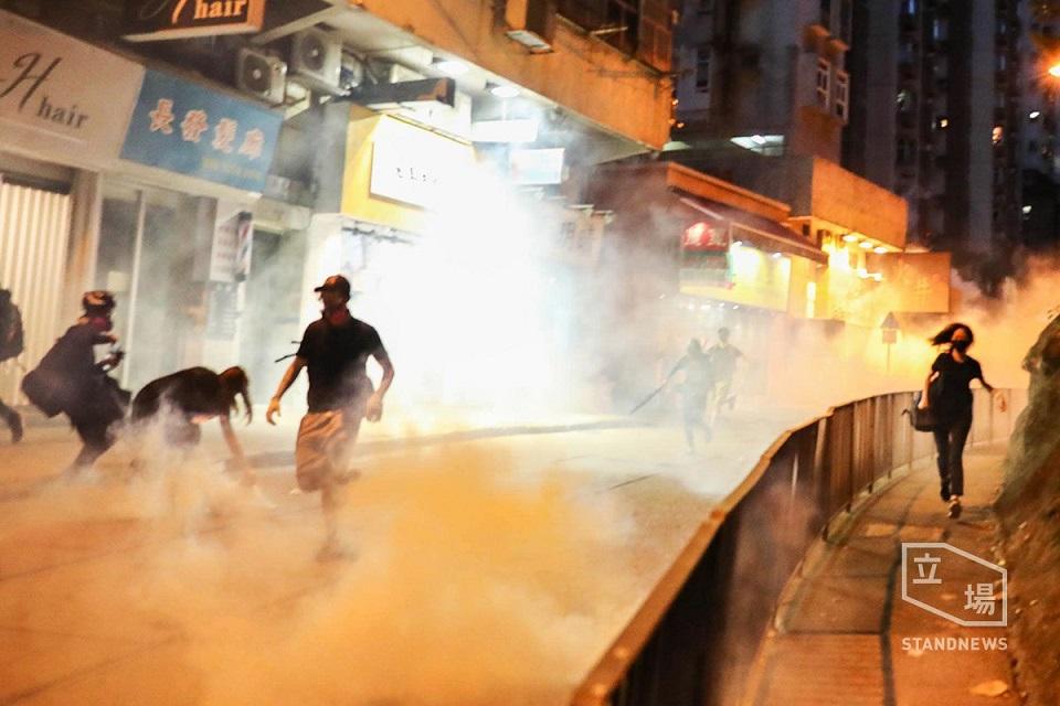 sai wan kennedy town extradition tear gas august 4