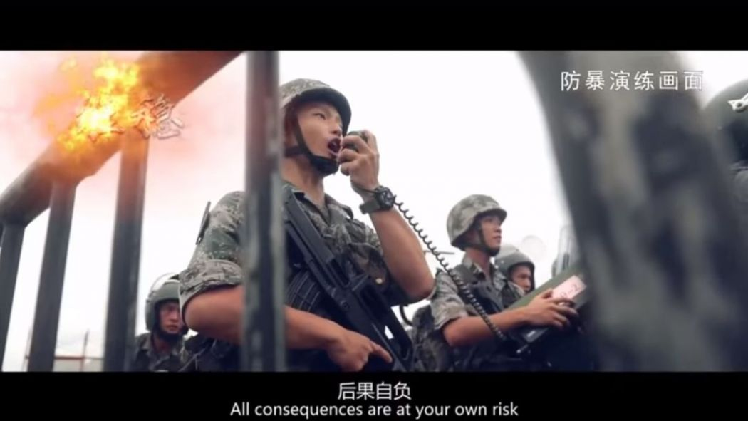 pla hong kong promotion video