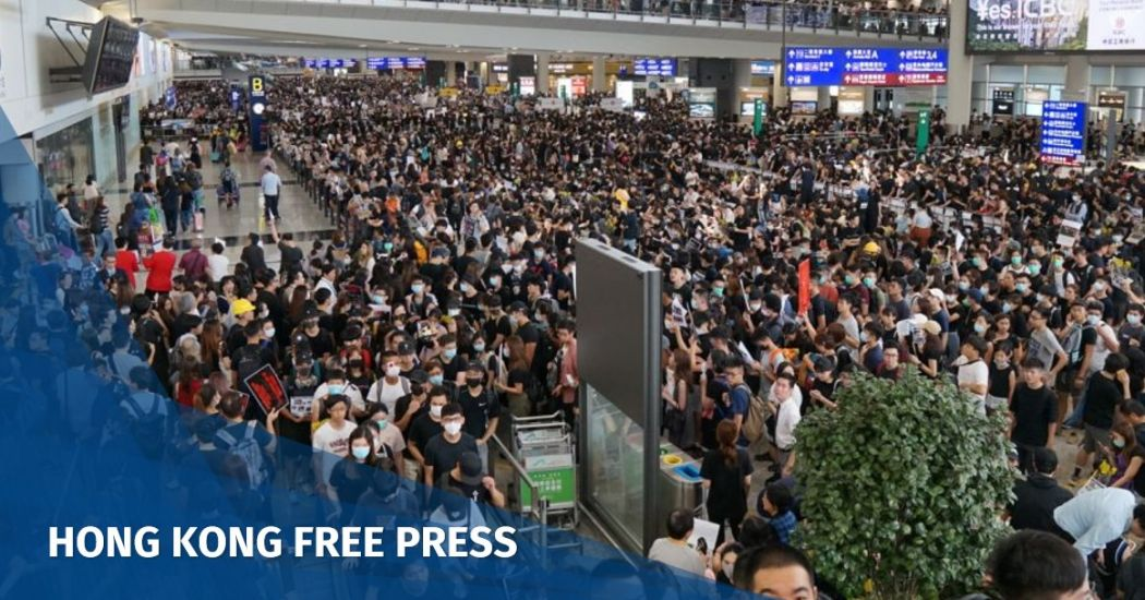 JUST IN: All flights cancelled out of Hong Kong as thousands of protesters besiege airport over police violence | Hong Kong Free Press HKFP